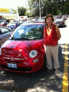 This is my trusty Fiat 500 which gets me to events across Canada and the USA