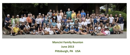 Mancini family from Detroit, Windsor, Toronto, Montreal, etc all gathered in Pittsburgh PA for the family reunion.